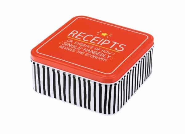 Happy Jackson 'Receipts' tin