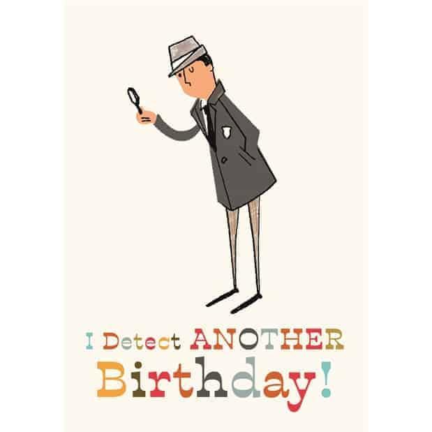 ImagWriterashx Detective Birthday Card