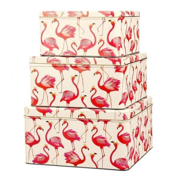 elite-sm4000-sara-miller-set-of-3-square-cake-tins-flamingos-1