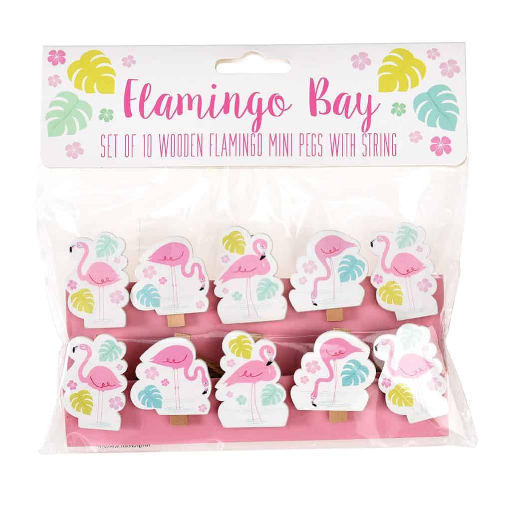 Flamingo Bay Wooden Pegs And String By Rex London