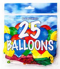 25 pk balloons