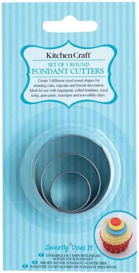 KC circle fondant cutters