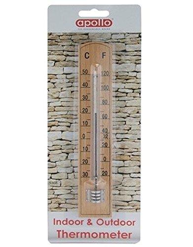 apollo wooden thermometer
