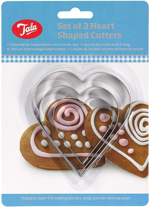 heart shaped cutters tala
