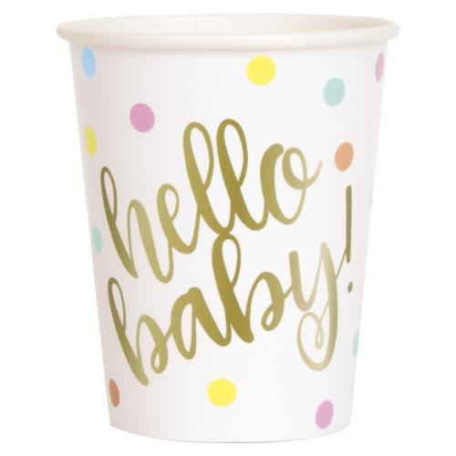 hello baby paper cups unique