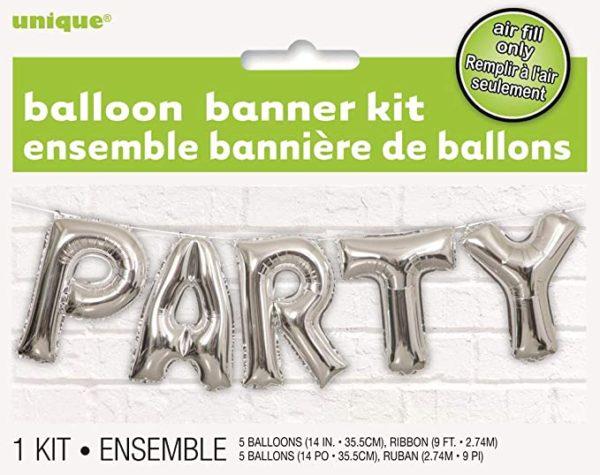 party balloon banner kit