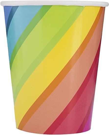 rainbow paper cup unique