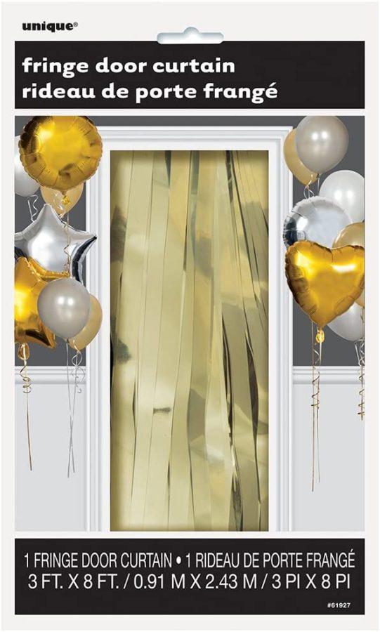 unique gold fringe door curtain
