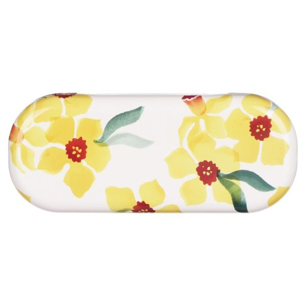EB daffodils glasses case