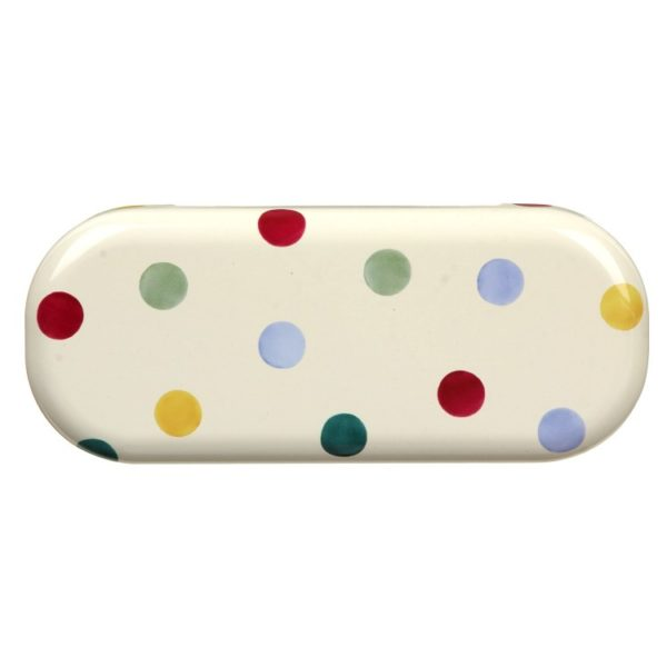 EB polka dot glasses case