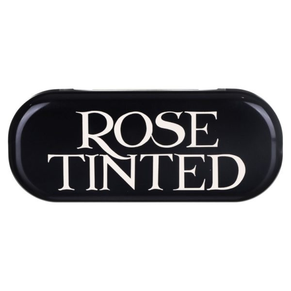 EB rose tinted glasses case