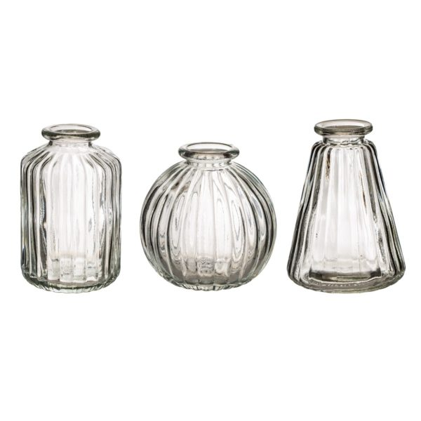 GLEE041_A_Plain_Glass_Bud_Vases