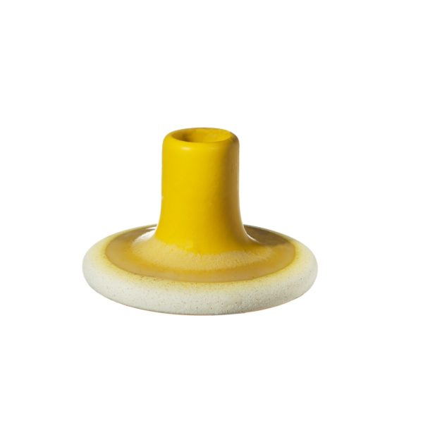 CZQ044_A_Mojave_Yellow_Candle_Holder